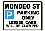 MONDEO ST Large metal ParkingSign for ford 24 v6 gift